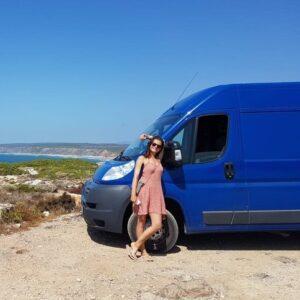 Ich genieße das easy Camperlife an der Küste Portugals